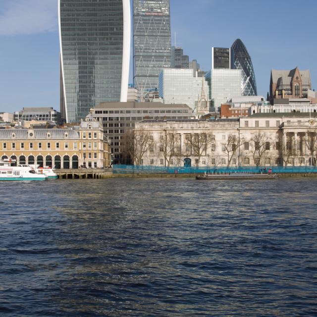 """Thames skyline"" stock image"