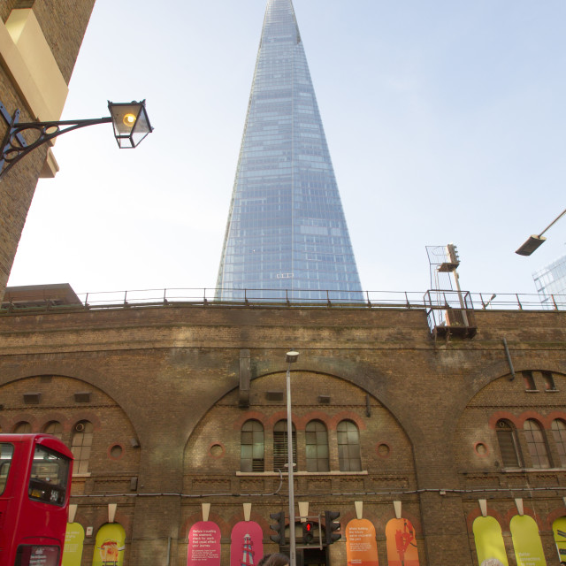 """a view of the shard"" stock image"