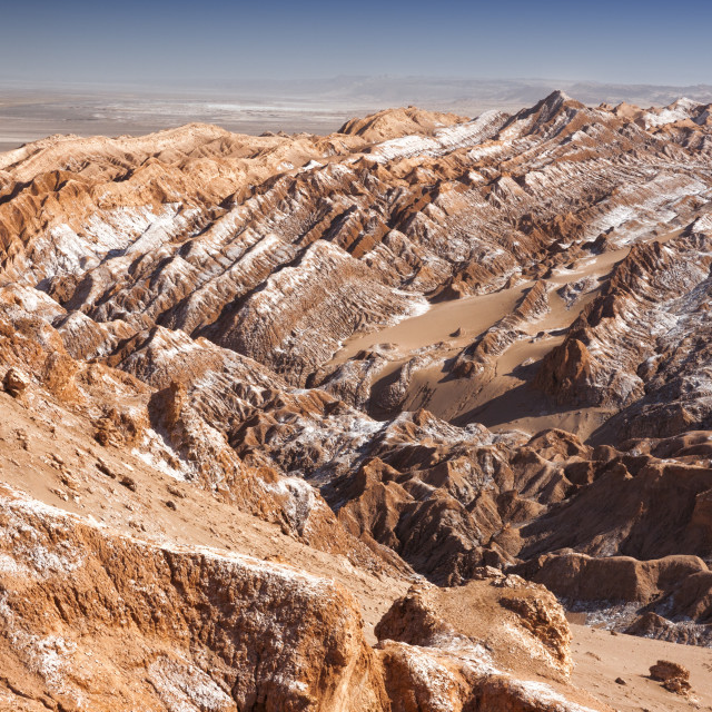 """Moon Valley, Atacama Desert, San Pedro, Chile, South America"" stock image"