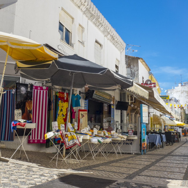 """""""Markets in the Old Town, Albufeira, Algarve, Portugal, Europe"""" stock image"""