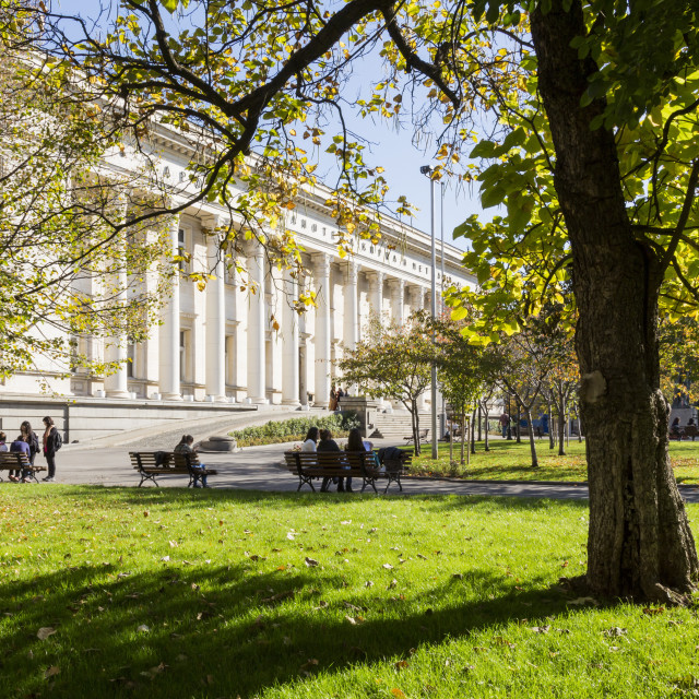 """National Library, St. Cyril and Metodiy, Sofia, Bulgaria, Europe"" stock image"