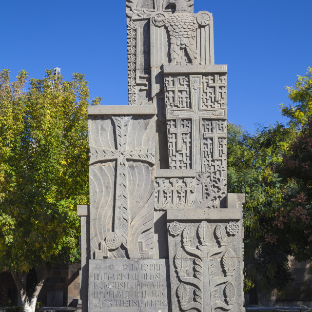 """Armenian Genocide Monument, Echmiadzin, Armenia, Central Asia, Asia"" stock image"