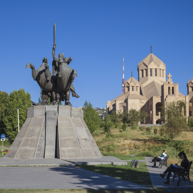 """Surp Grigor Lusavorich Yekeghetsi Cathedral, the largest Armenian church in..."" stock image"