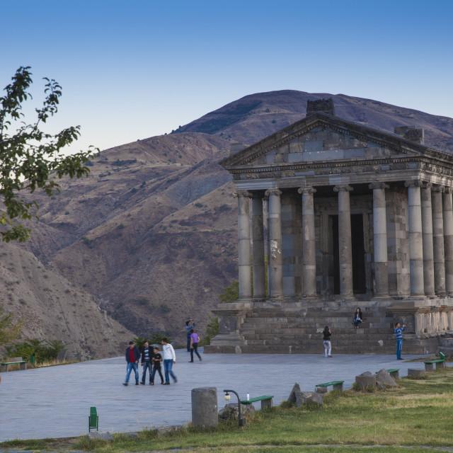 """Garni Temple, Garni, Yerevan, Armenia, Central Asia, Asia"" stock image"