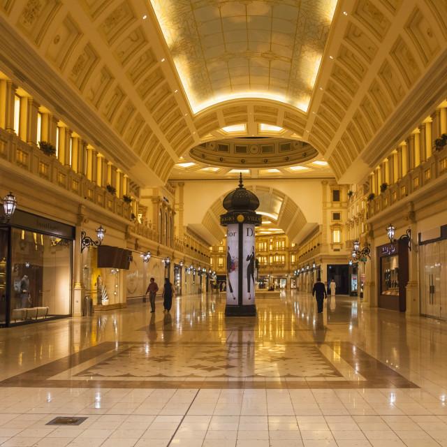 """Villaggio Mall, Doha, Qatar, Middle East"" stock image"