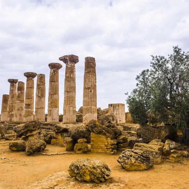 """Temple of Hercules (Tempio di Ercole), Valley of the Temples (Valle dei..."" stock image"