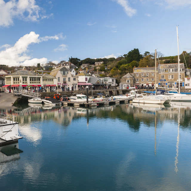 """""""Padstow harbour, Cornwall, England, United Kingdom, Europe"""" stock image"""