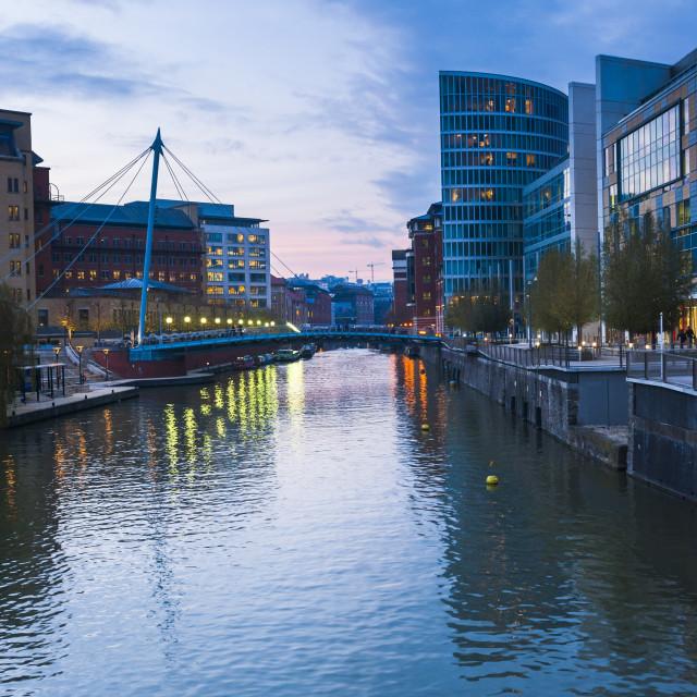"""Kennet and Avon Canal, Bristol, Avon, England, United Kingdom, Europe"" stock image"
