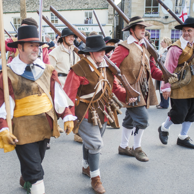"""""""Stow on the Wold English Civil War Reenactment, Gloucestershire, The..."""" stock image"""