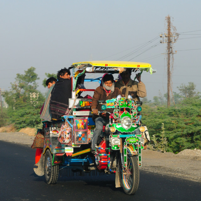 """""""Road transport in Western India, Gujarat, India, Asia"""" stock image"""