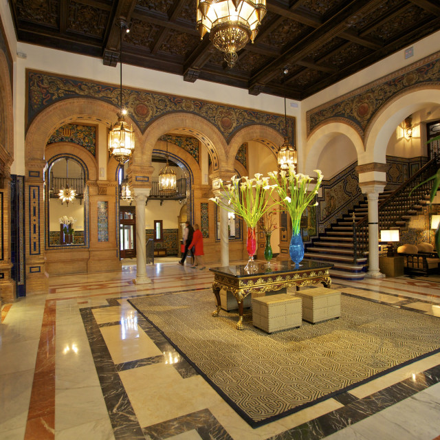 """Hotel Alfonso Xlll, Seville, Andalucia, Spain, Europe"" stock image"