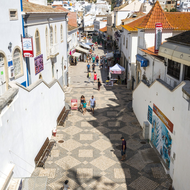 """Rua 5 de Outobro, Albufeira, Algarve, Portugal, Europe"" stock image"