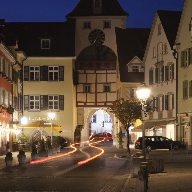 """""""Old town of Meersburg, Lake Constance (Bodensee), Baden Wurttemberg, Germany,..."""" stock image"""