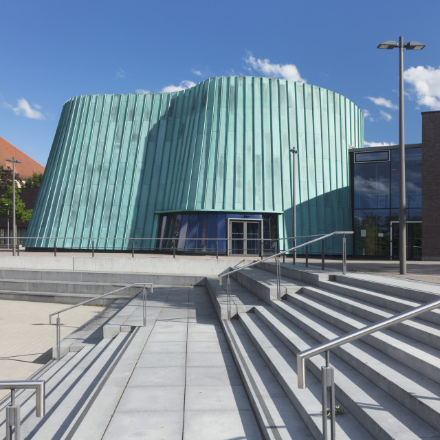 """Neue Musikschule (New Music School), Fellbach, Stuttgart, Baden Wurttemberg,..."" stock image"
