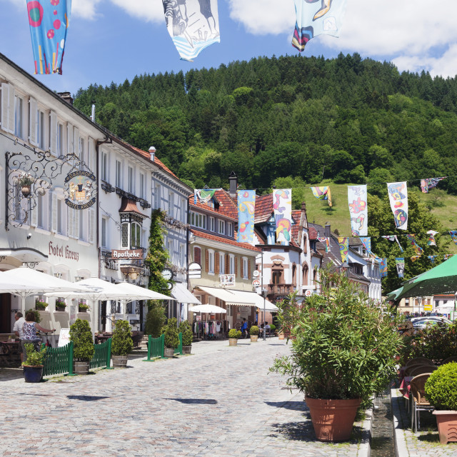 """""""Main Road, Wolfach, Kinzigtal Valley, Black Forest, Baden Wurttemberg,..."""" stock image"""