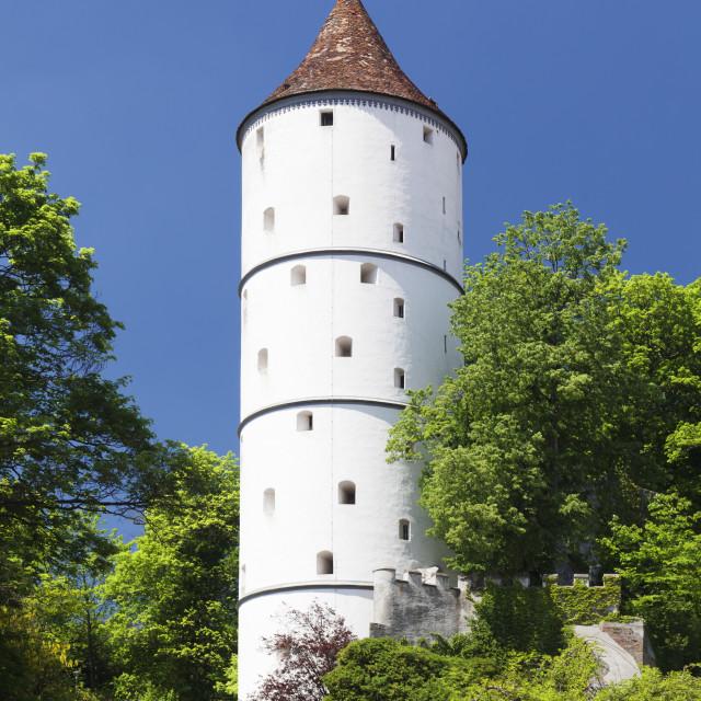 """Gigelturm Tower, Biberach an der Riss, Upper Swabia, Baden Wurttemberg, Germany"" stock image"
