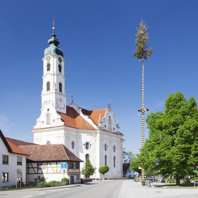 """""""St Peter und Paul Church, Steinhausen, Upper Swabia, Baden Wurttemberg, Germany"""" stock image"""