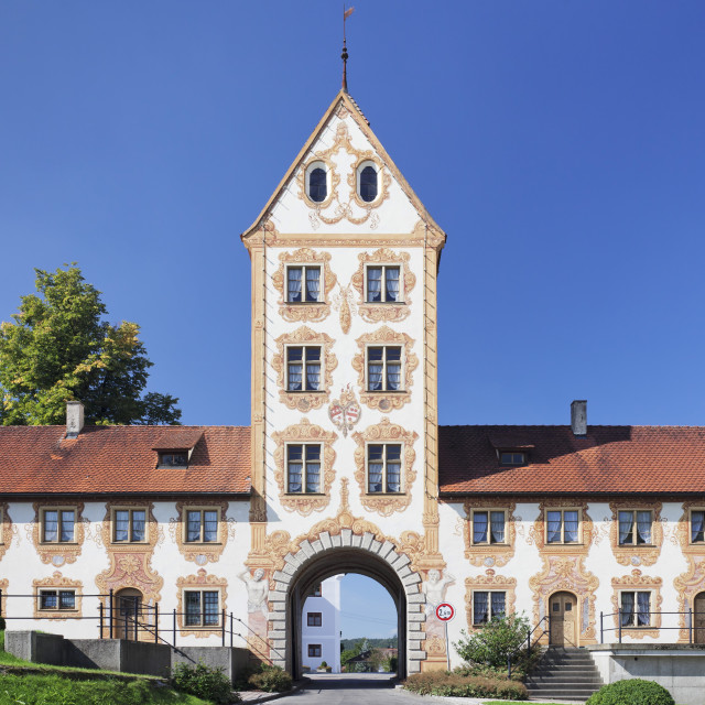 """""""Oberes Tor Gate, Rot an der Rot, Upper Swabia, Baden Wurttemberg, Germany"""" stock image"""