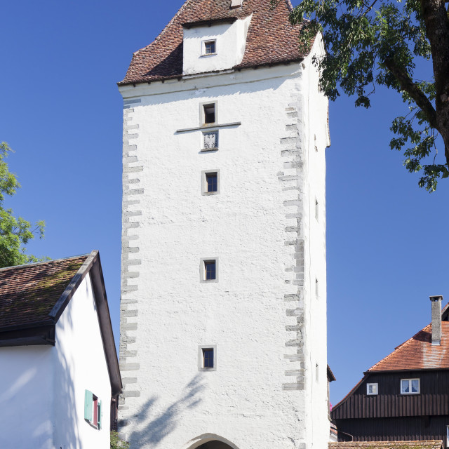 """Espanator Gate, Isny, Upper Swabia, Baden Wurttemberg, Germany"" stock image"