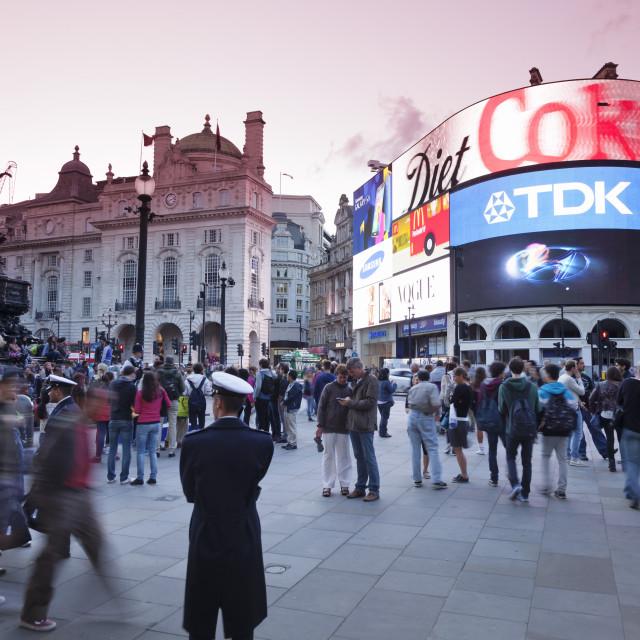 """Statue of Eros, Piccadilly Circus, London, England, United Kingdom, Europe"" stock image"