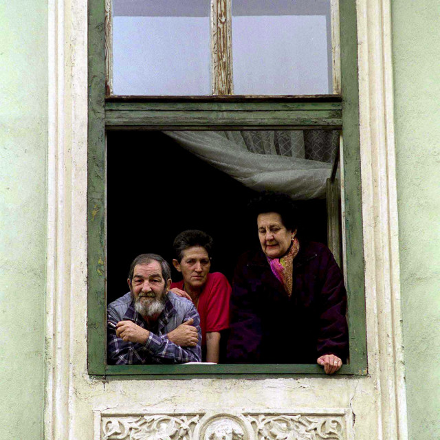"""Locals in Sibiu, Romania"" stock image"