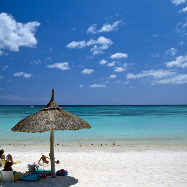 """""""White Sand Beach, Mauritius"""" stock image"""