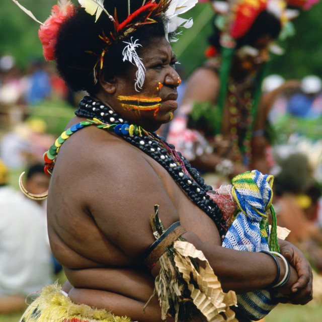 """Traditional dress, Papua New Guinea"" stock image"