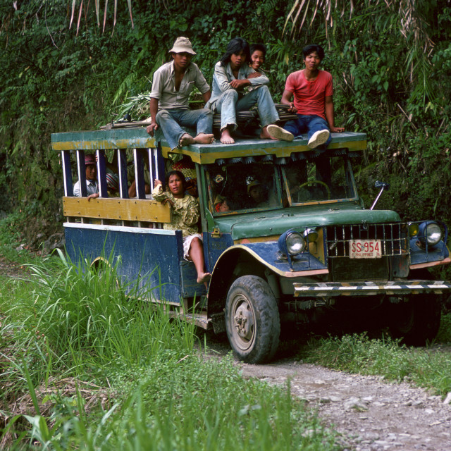 """""""Bus of commuters travelling to Banaue, Philippines"""" stock image"""