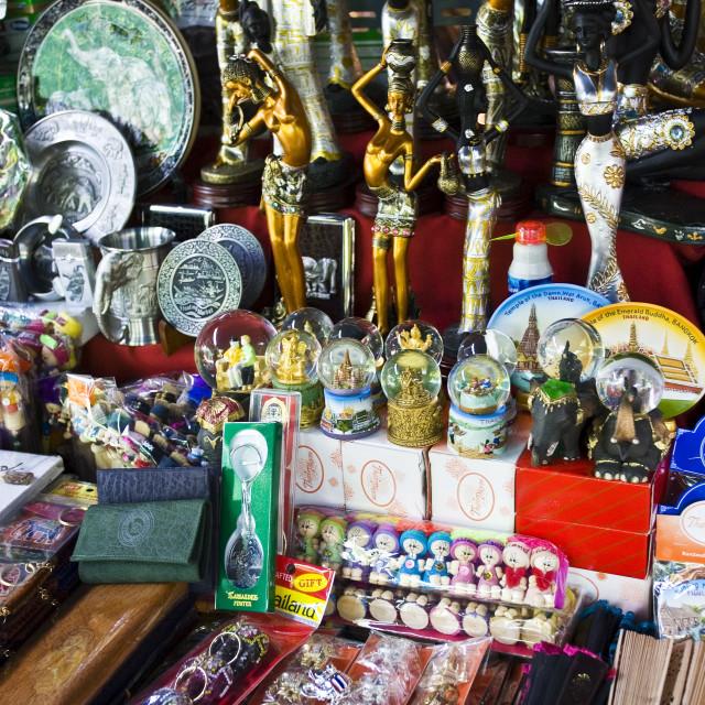 """""""Souvenir shop in Bangkok, Thailand"""" stock image"""