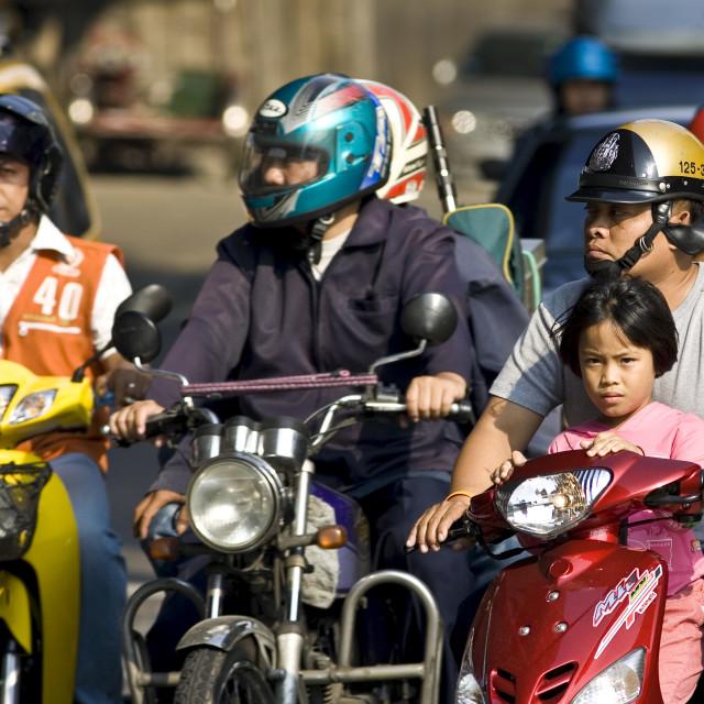 """Commuters, Bangkok, Thailand"" stock image"