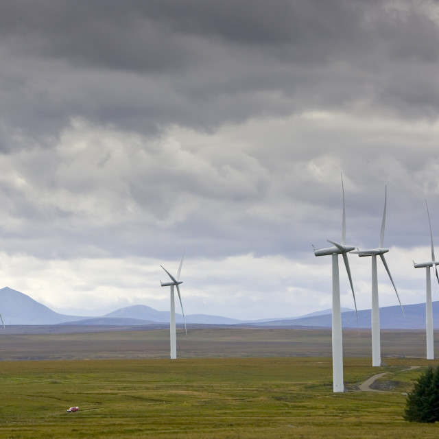"""Causeymire Wind Farm, Caithness, Scotland, United Kingdom"" stock image"
