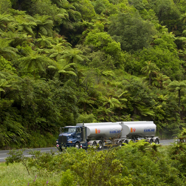 """Tanker truck, New Zealand"" stock image"