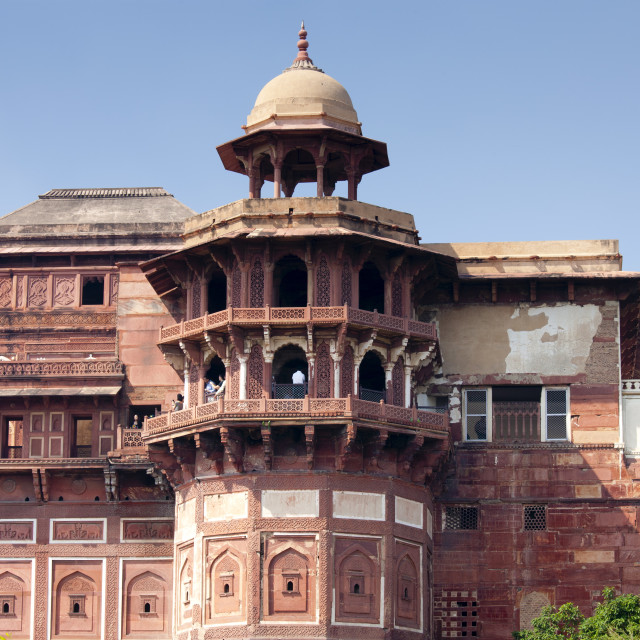 """Agra Fort, 17th Century residence of Great Mughals and Mughal fort in Agra,..."" stock image"
