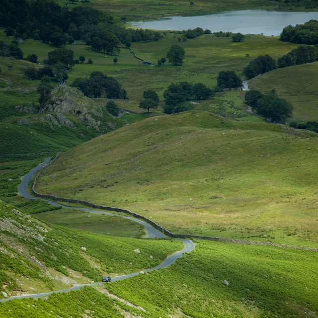 """""""Wrynose Pass in the Dudden Valley part of the Lake District National Park,..."""" stock image"""