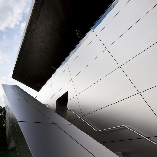"""""""Modern architecture at the BMW Customer Collection, Showroom, Museum,..."""" stock image"""