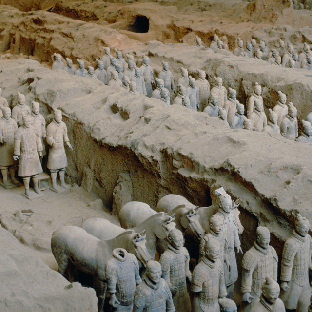"""Terracotta Army Warriors in Xian, China"" stock image"