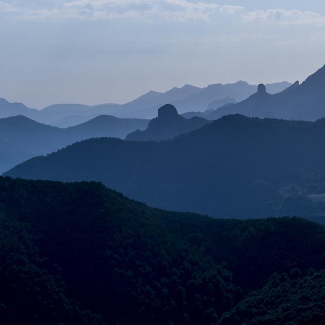 """""""Picos de Europa, Peaks of Europe, mountain range near Potes, Asturias,..."""" stock image"""