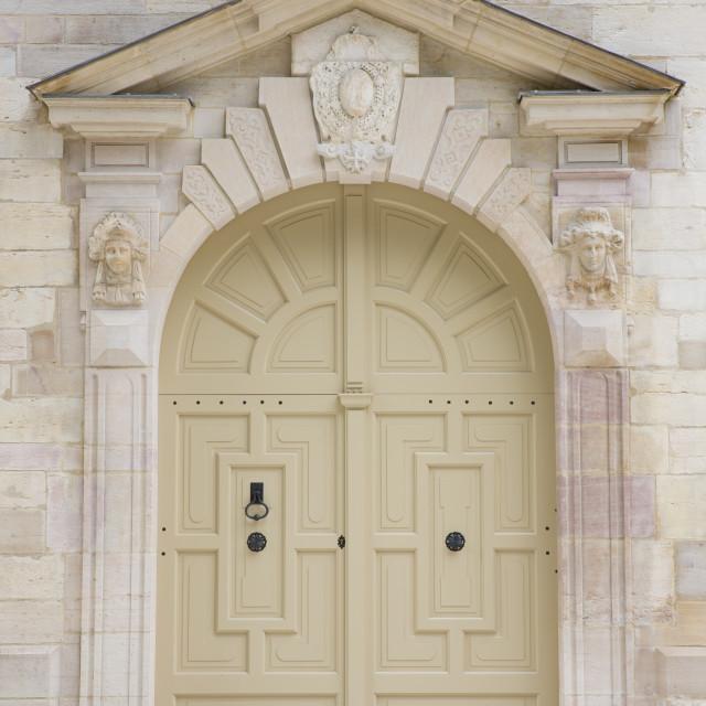 """""""Traditional doorway of the Ducal Palace (Palais des Ducs et des Etats de..."""" stock image"""