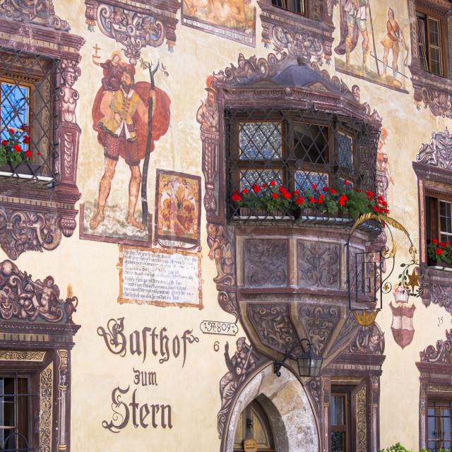 """Gasthof Stern 16th century hotel in Kirchweg, built 1573, in the old part of..."" stock image"