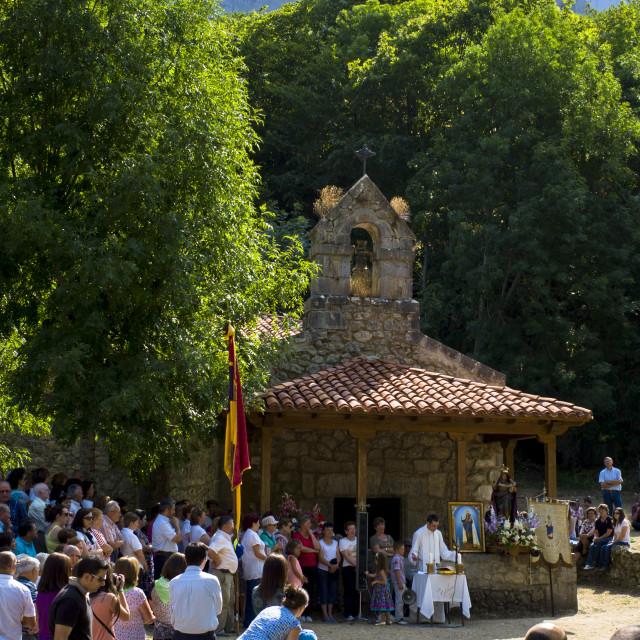 """""""Festival of Our Lady of the Virgin of Corona, at Ermita de Corona, Valle de..."""" stock image"""