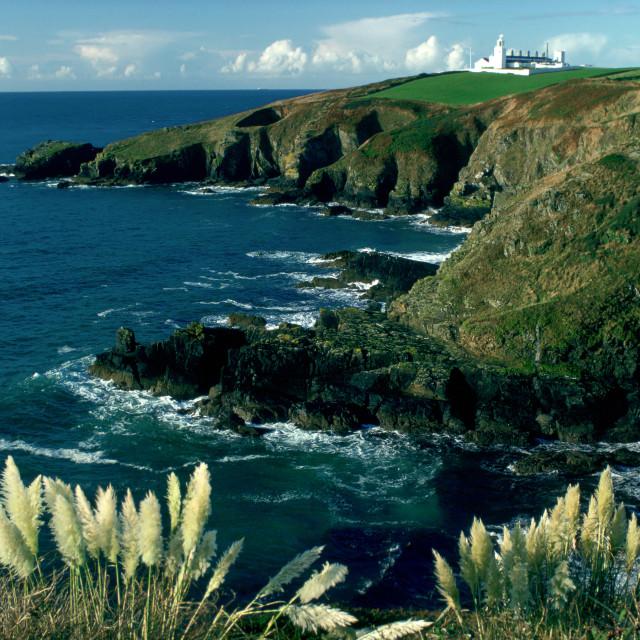 """Lizard Lighthouse, Lizard Point, Cornwall, England"" stock image"