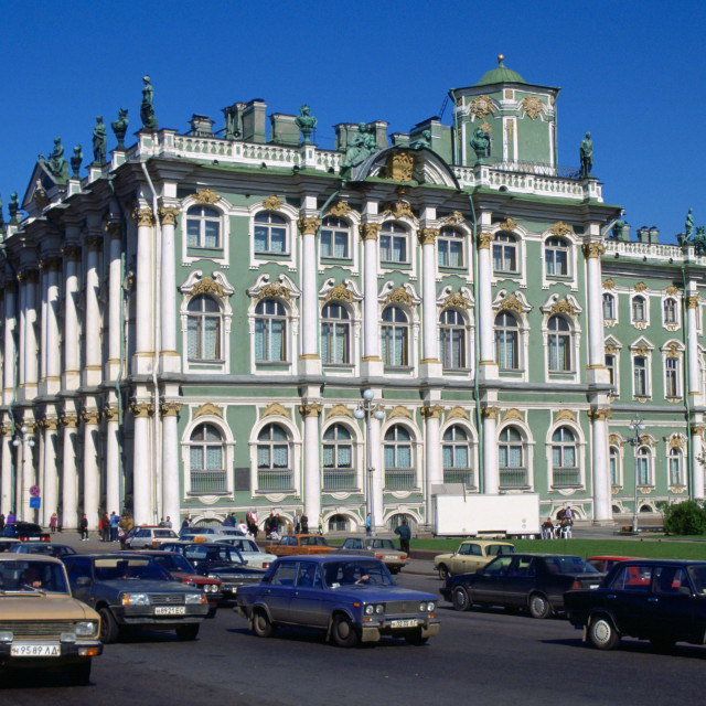 """""""The State Hermitage Museum in St Petersburg in Russia"""" stock image"""