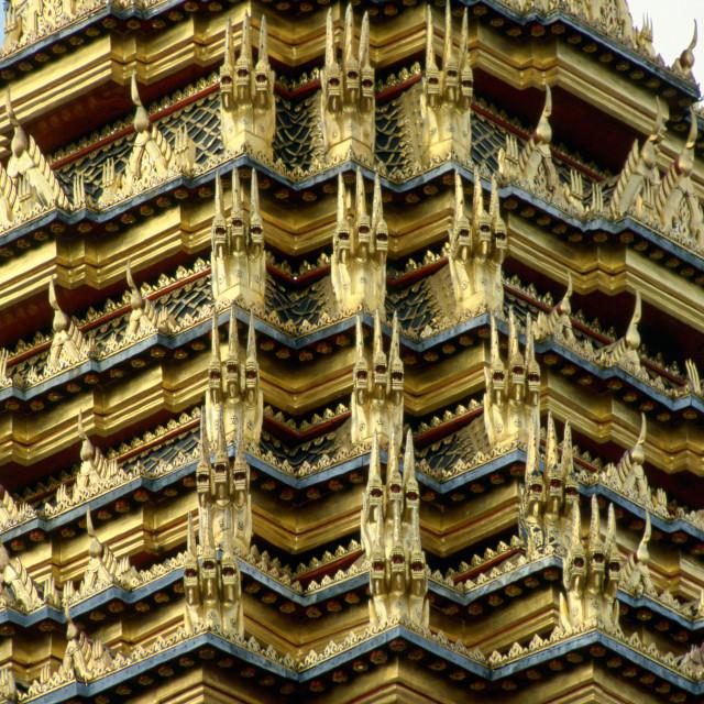 """""""Detail of the Grand Palace, Bangkok, Thailand"""" stock image"""