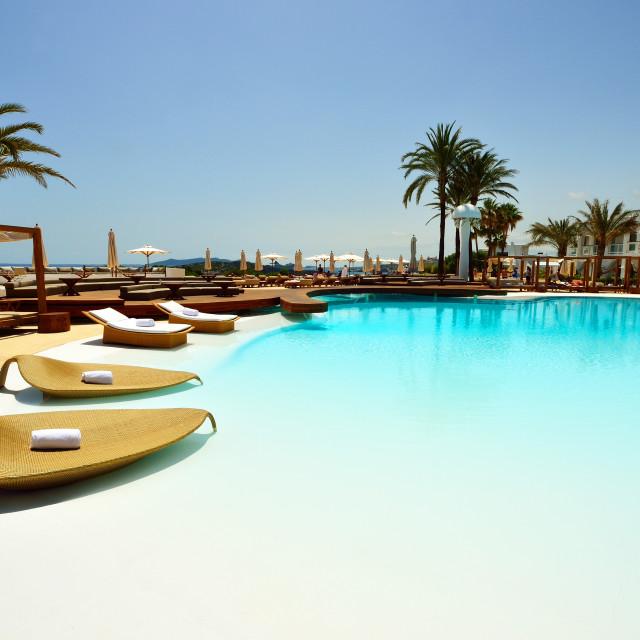 """Destino Hotel, Ibiza, Balearic Islands, Spain, Mediterranean, Europe"" stock image"
