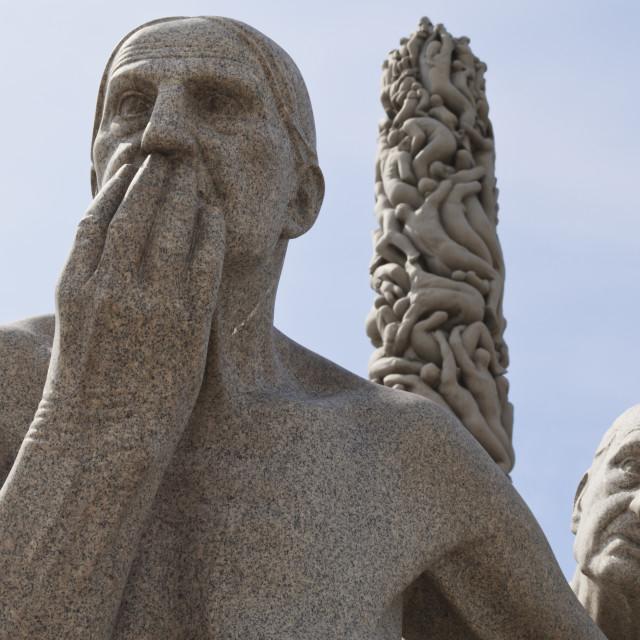 """Sculptures by Gustav Vigeland, Frogner Park, Oslo, Norway, Scandinavia, Europe"" stock image"