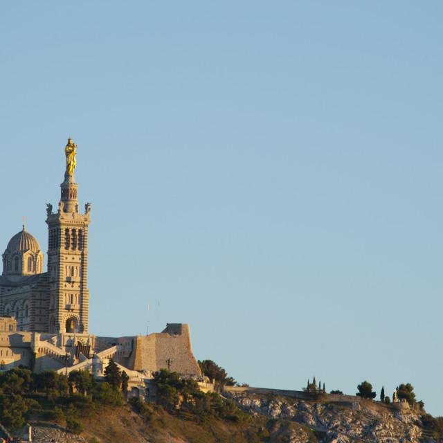 """""""Notre Dame de la Garde in Marseilles, Bouches du Rhone, Provence, France, Europe"""" stock image"""