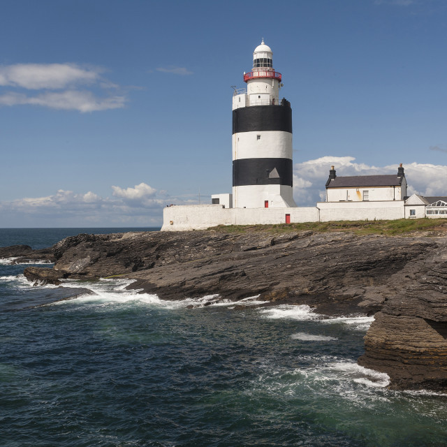 """Hook Head Lighthouse, County Wexford, Leinster, Republic of Ireland, Europe"" stock image"