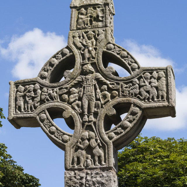 """West cross, Monasterboice, County Louth, Republic of Ireland, Europe"" stock image"