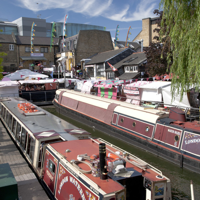 """View of Camden Lock, Camden, London, England, United Kingdom, Europe"" stock image"