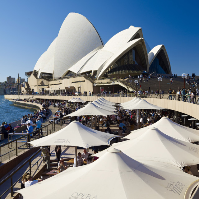 """Sydney Opera House, UNESCO World Heritage Site, Sydney, New South Wales,..."" stock image"